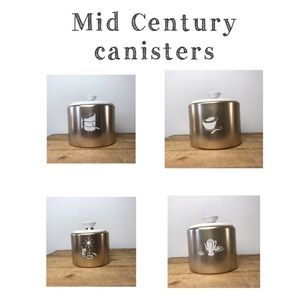 Vintage kitchen canisters mid century Mirro 1950s